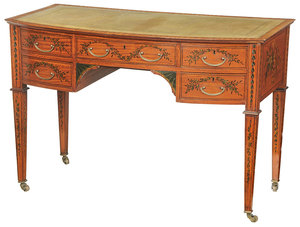 Adam Style Painted Satinwood Writing Desk