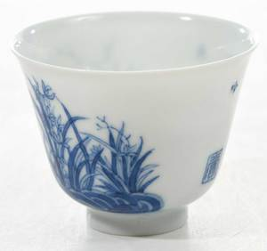 A Fine Chinese Blue and White Porcelain Cup