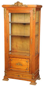 French Bronze Mounted Vitrine Cabinet