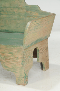 Southern Green Painted Yellow Pine Bench