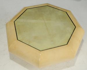 Lorin Marsh Goatskin Octagonal Low Table