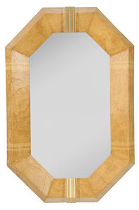 Modern Faux Finished and Parcel-Gilt Mirror