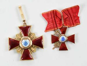 Two Russian Imperial Order of St. Anne Medals