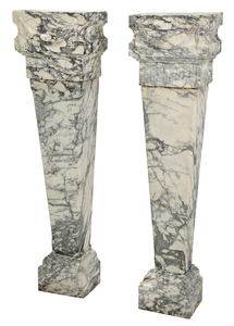 A Fine Pair Carved Marble Pedestals