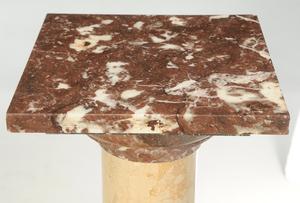 Pair Sienna Marble Pedestals