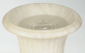 Pair Capana Urn Form Alabaster Lamps