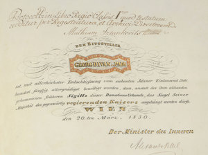 A Fine Austro-Hungarian Franz Josef Document