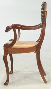 A Russian Empire Style Bronze Mounted Armchair