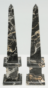 Six Grand Tour Rock Crystal and Stone Obelisks