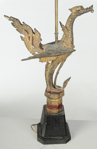 Indian Bronze Figural Lamp