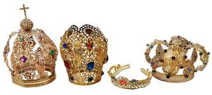 Four Gilt Devotional Crowns