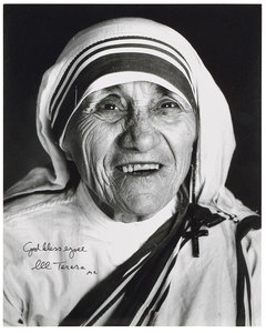 Mother Theresa Signed Photo