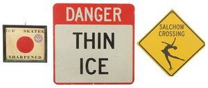 Three Ice Skating Related Signs