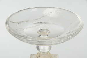 Pair Neoclassical Rock Crystal Tazzas