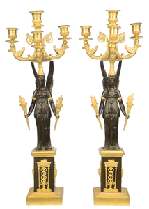 Fine Pair Russian Empire Style Candelabra