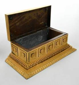 An Ormolu Box and Figural Clock with Case