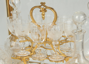 Gilt Brass and Glass Tantalus