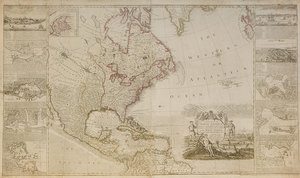 William and Cluer Dicey - Map of North America