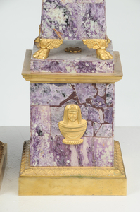 Fine Russian Amethyst and Ormolu Obelisks
