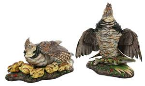 Pair Boehm Ruffed Grouse