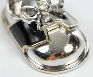 Aaron Basha 18kt. Diamond & Enamel Charm
