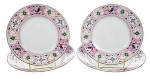 Four Kornilov Factory Russian Plates