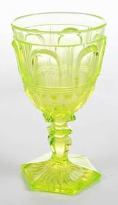 Russian Gilt Silver Goblet, Glass Goblet