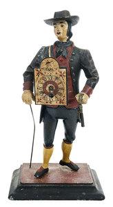 Figural Peddler Clock