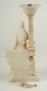 Italian Figural Alabaster Lamp