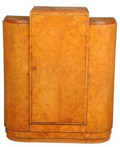 Art Deco Burlwood Veneer Cabinet