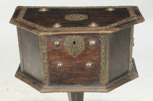 Spanish Baroque Style Brass Mounted Coffer
