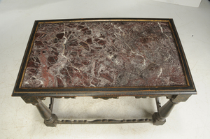 Baroque Style Marble Top Painted Center Table