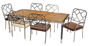 Milo Baughman Attributed Chrome Dining Suite