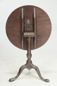 George III Mahogany Tilt Top Tea Table