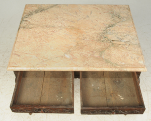 Provincial Louis XV Marble Top Table