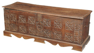 Baroque Carved Oak Cassone