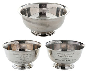 Three Sterling Bowls Revere
