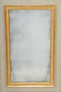 Louis XVI Style Painted and Parcel-Gilt Trumeau