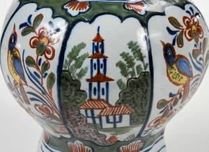 Two Delft Polychrome Objects