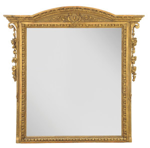 Neoclassical Style Carved and Gilt Wood Mirror