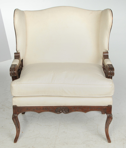 Provincial Louis XV Style Mechanical Easy Chair