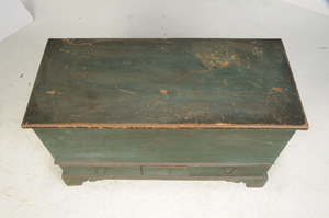 American Chippendale Painted Lift Top Chest