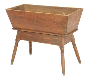 Country Pine Dough Box on Stand