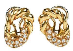 18kt. Diamond Earclips