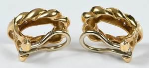 18kt. Diamond Earclips