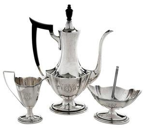 Three Piece Sterling Tea Coffee Set