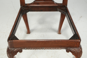 Pair George III Carved Mahogany Side Chairs