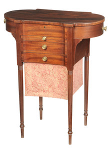 Fine American Federal Sewing Table