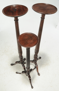 Three George III Carved Mahogany Urn Stands