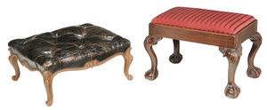 Louis XV Style, Chippendale Style Footstools